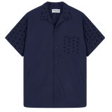 Cat's Meow Pocket Shirt - Navy