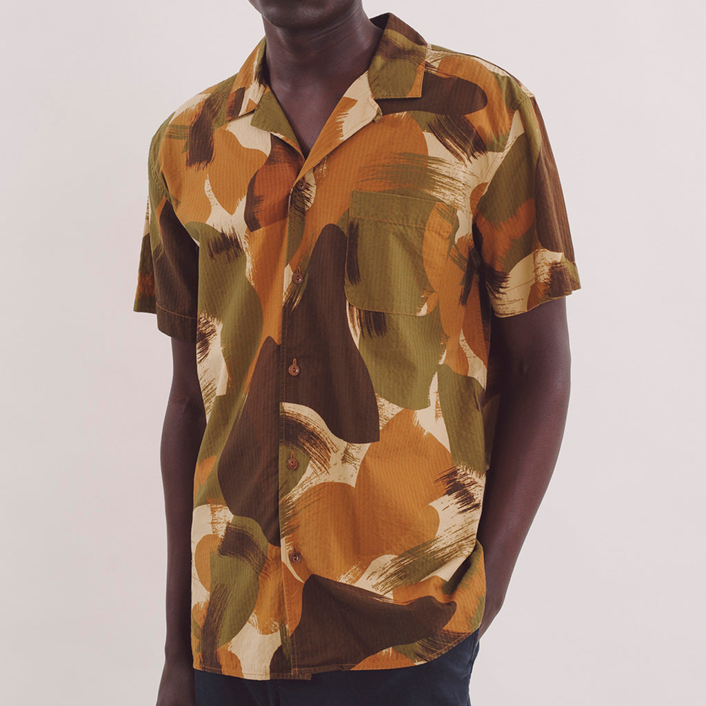 Malick Spread Collar Shirt - Brushed Camo