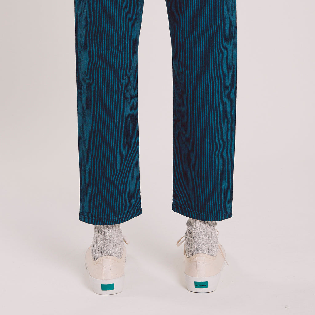 Tearaway Jean Cotton Linen - Blue / Navy Stripe