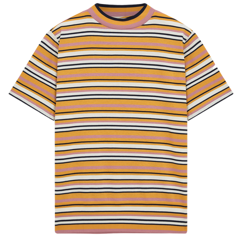 Tutti Frutti Mock Neck Tee - Multi Stripe