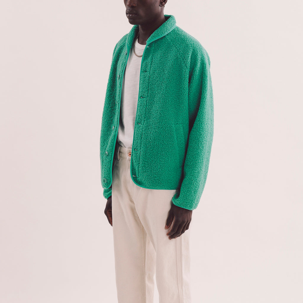 Beach Jacket - Green Fleece