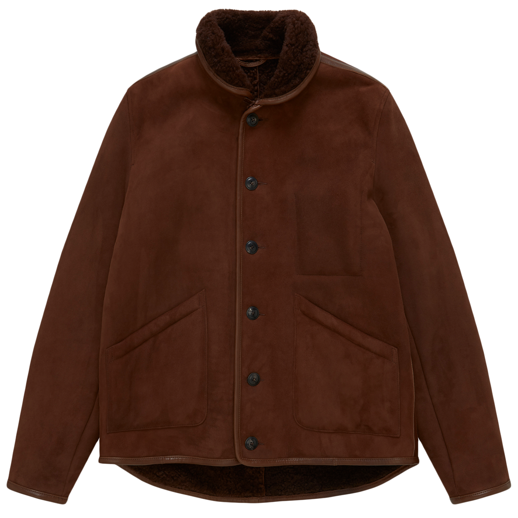 Brainticket Suede Jacket - Brown Sheepskin