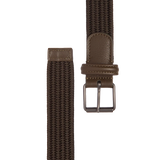 Woven Nylon Stretch Belt - Olive