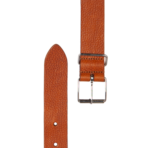 Slim Leather Belt - Light Brown