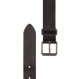 Slim Leather Belt - Black