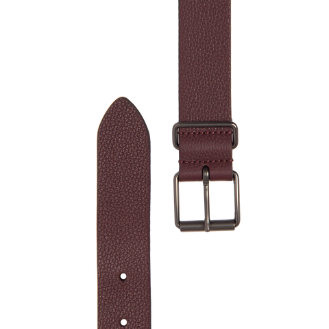 Slim Leather Belt - Oxblood