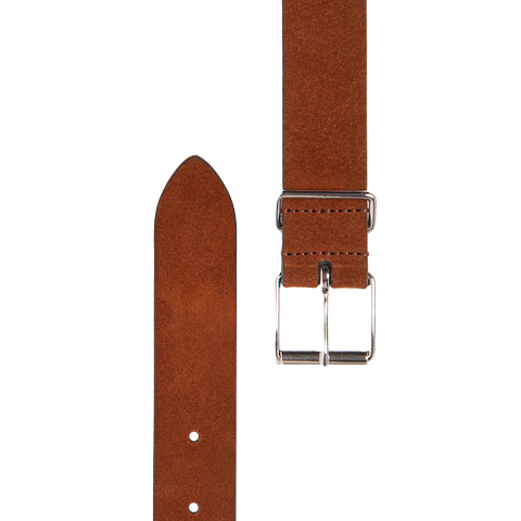 Slim Suede Belt - Brown