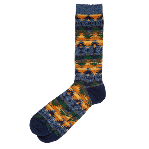 Wigwam JQ Crew Sock - Navy Yellow