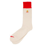 Embroidered Crew Sock - Burger