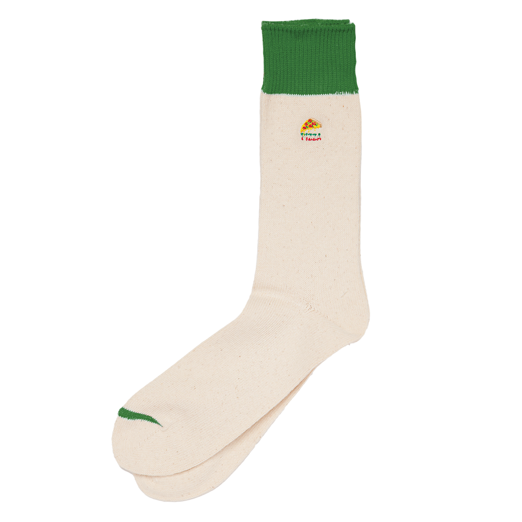 Embroidered Crew Sock - Pizza