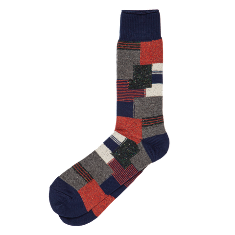Patchwork Crew Sock - Multi