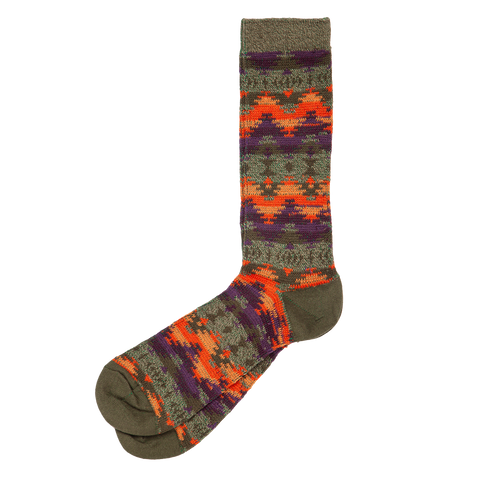 Wigwam JQ Crew Sock - Khaki Orange