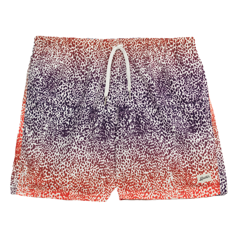 Swim Trunks - Purple Gradient Cheetah
