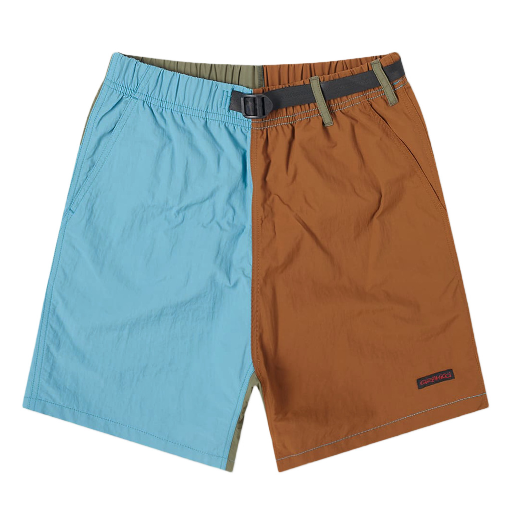 Shell Packable Shorts - Aqua / Mocha