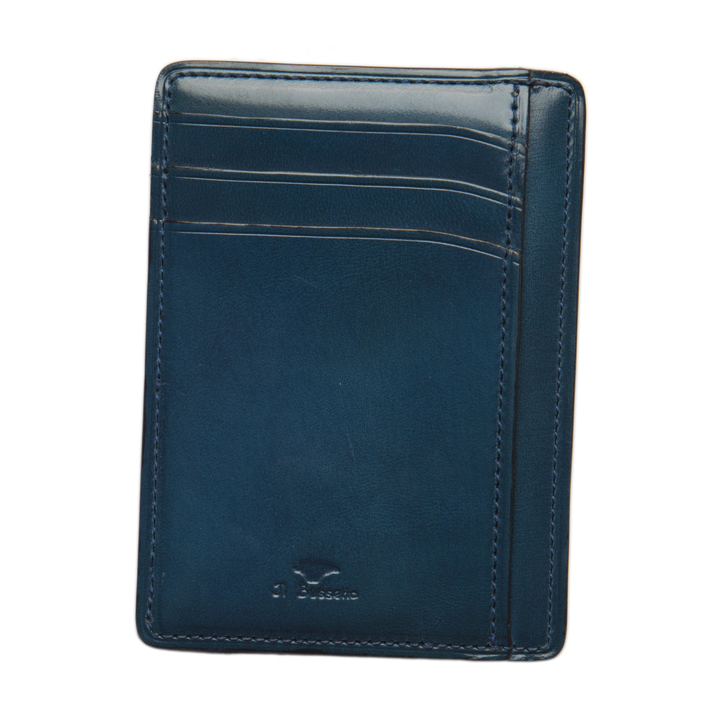 Double Sided Card & Document Case - Poseidon Blue