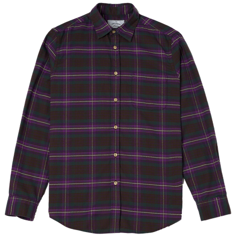 Crepe Flannel - Purple Check Plaid