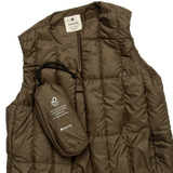 Padded Down Vest - Olive
