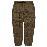 Padded Down Pants - Olive