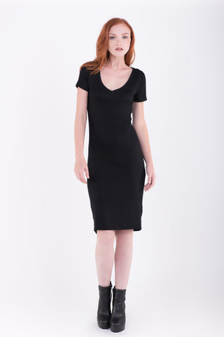 Rena Solid Midi Dress