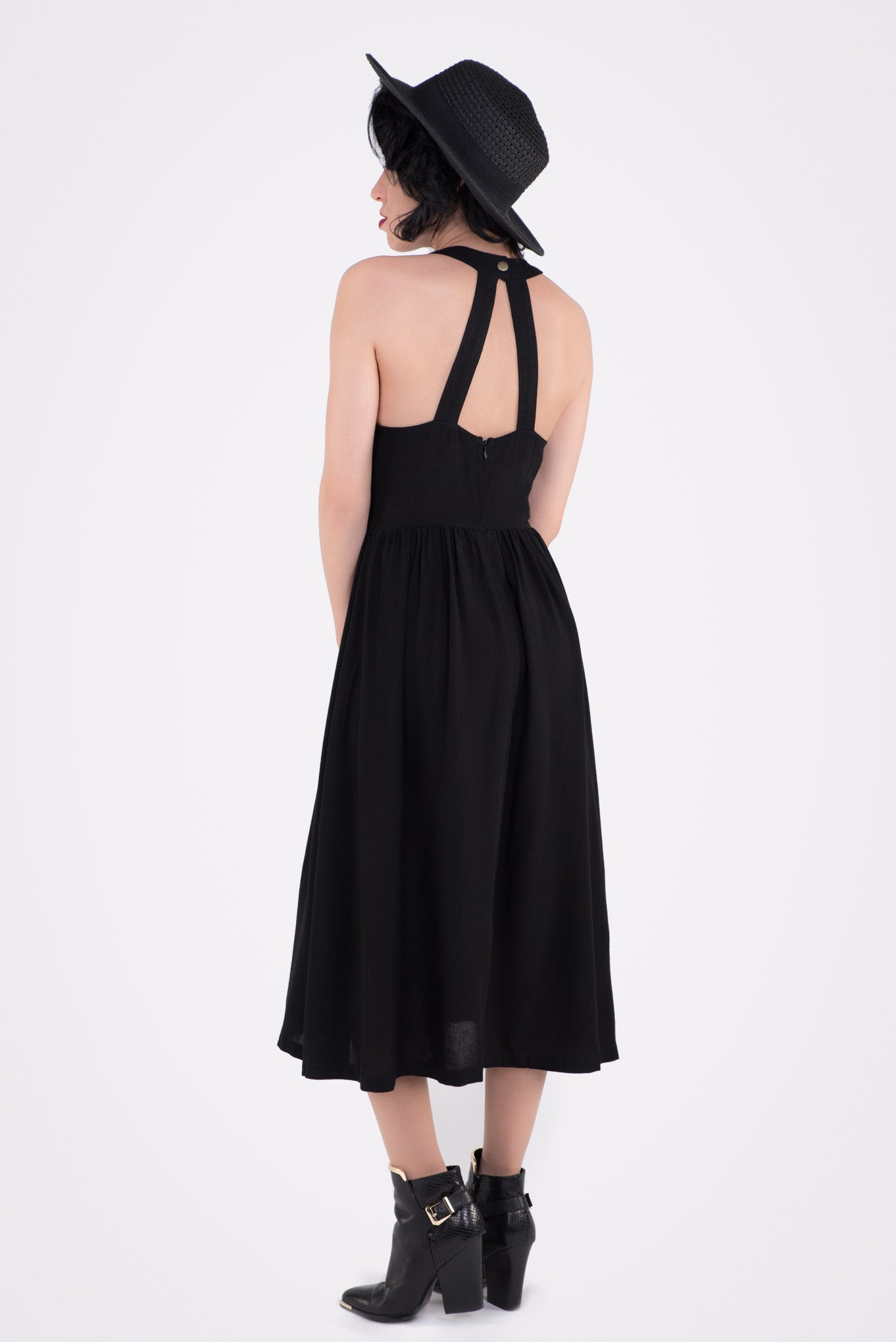 Pass Me By Tie Front Midi Dress