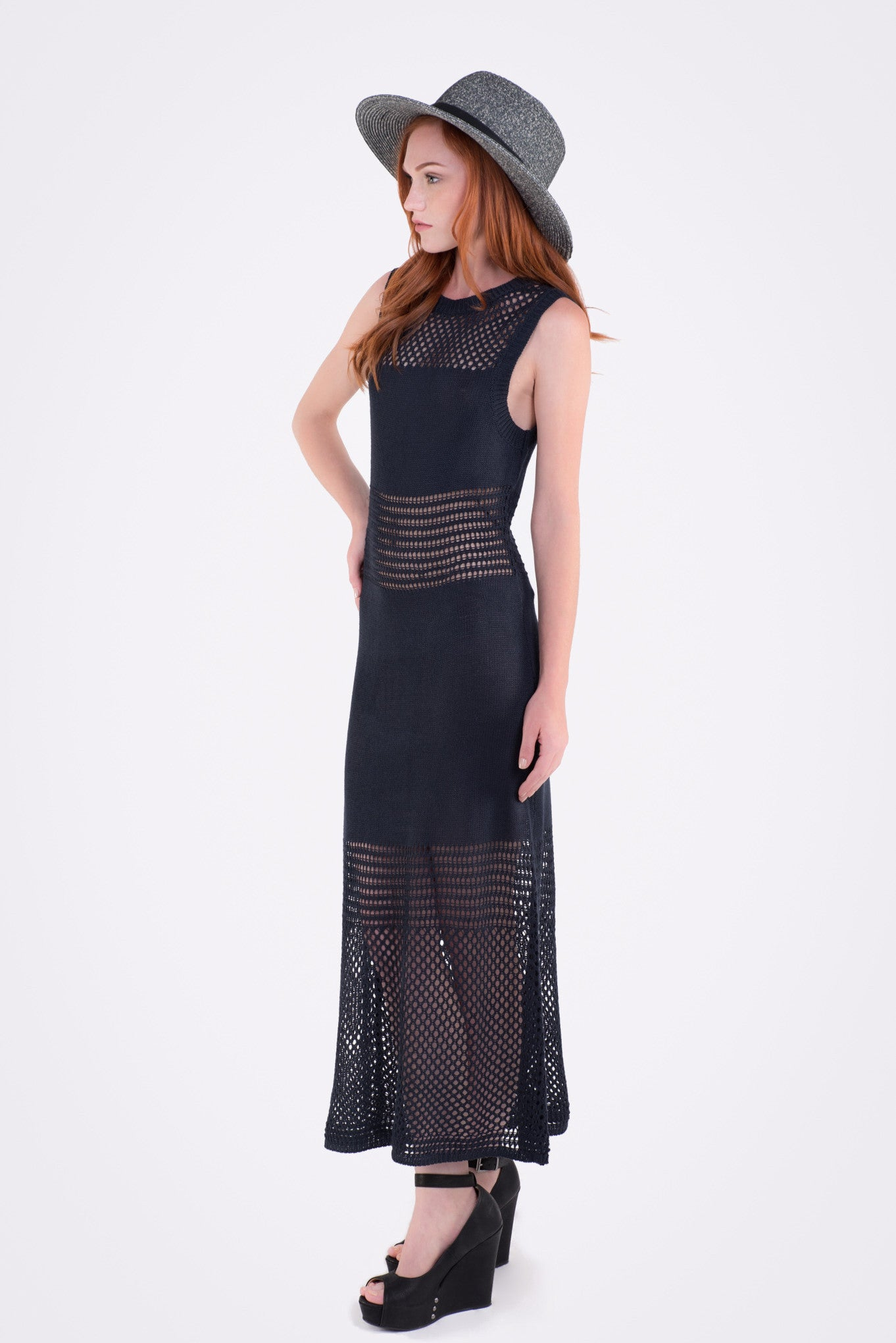 A Little Lost Mesh Maxi Dress