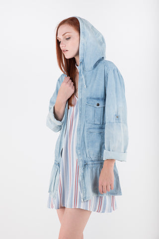 MinkPink Know You Wanna Denim Anorak