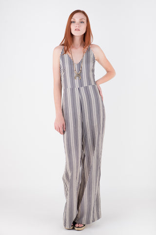 Meant to Be Striped Jumpsuit