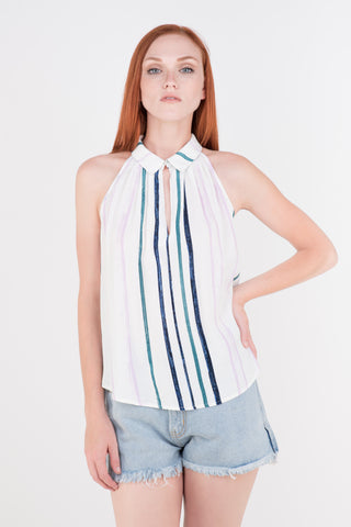 ASTR Maude Striped Top