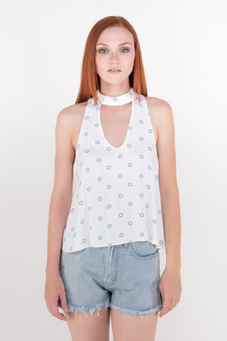 Molly High-Neck Sleeveless Top