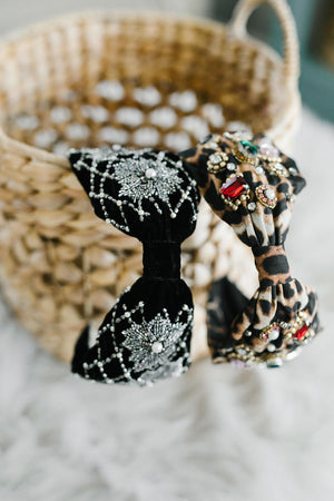 Bejeweled Leopard or Velvet Starburst Headband