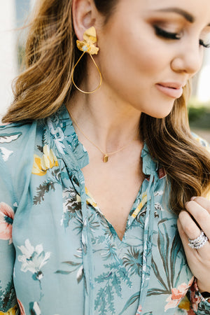 Ella Dainty Tag Necklace