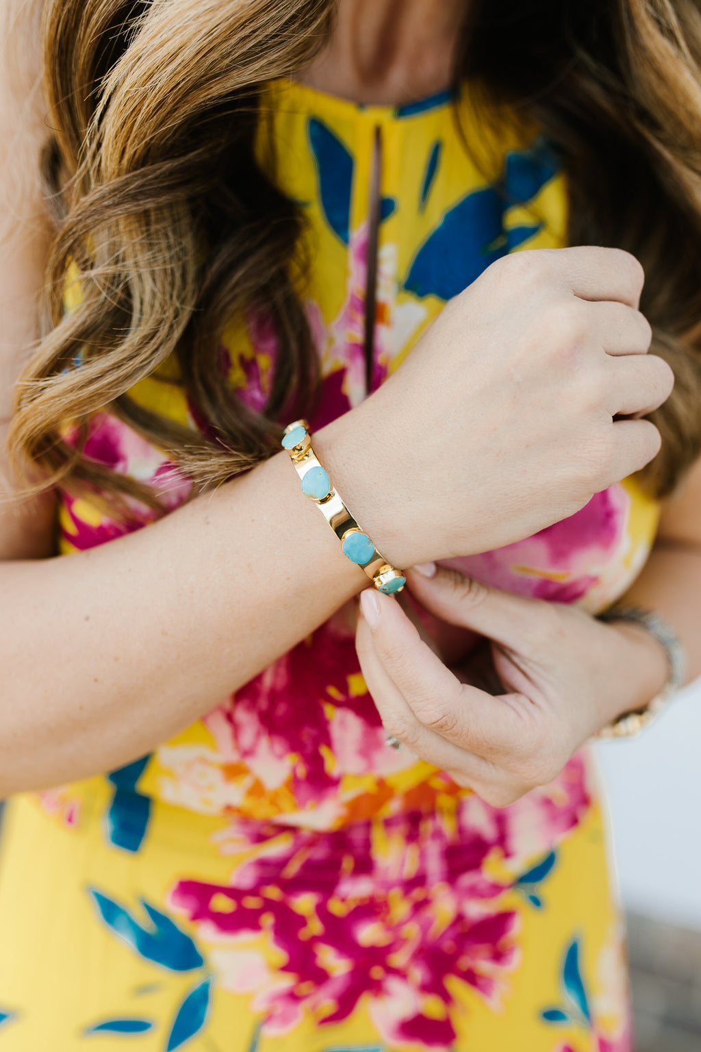 Skylar Turquoise Bangle