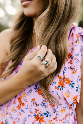 Yara + Indra Rings — Emerald