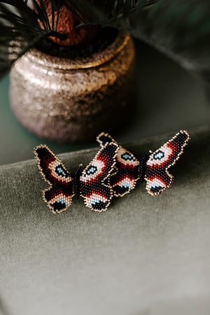 Eva Butterfly Beaded Earring