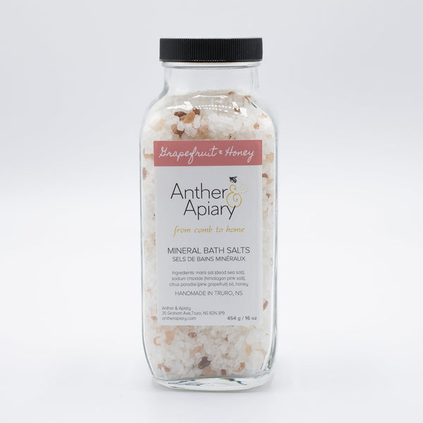 Grapefruit & Honey Bath Salts by Anther Apiary