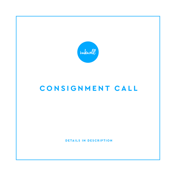 Consignment Call at Inkwell