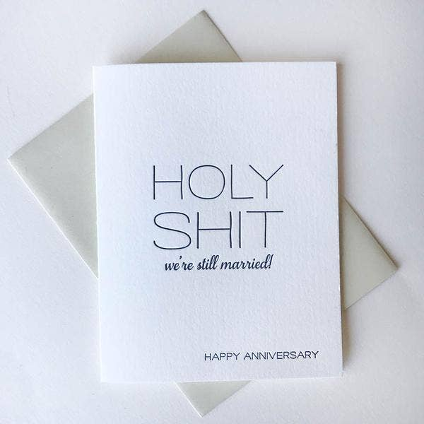 Holy Shit Anniversary Card