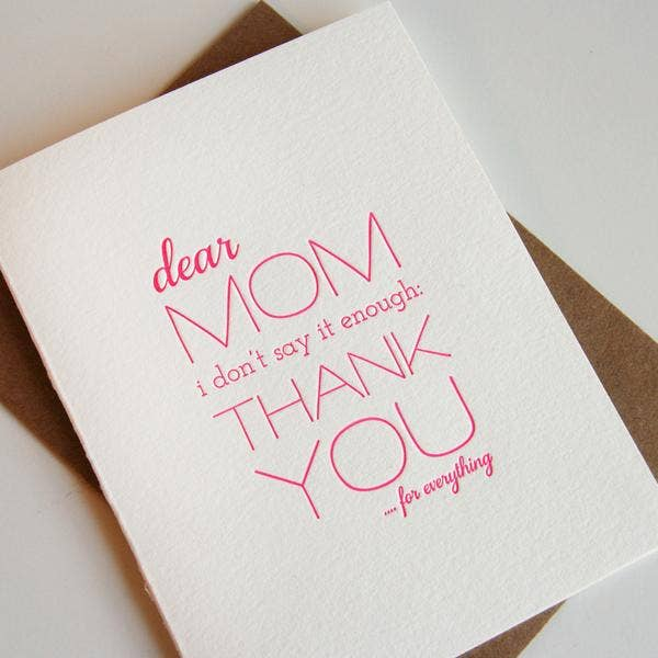 Mom Thanks Card