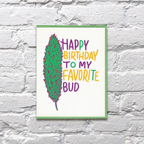 Fave Bud Birthday Weed Card