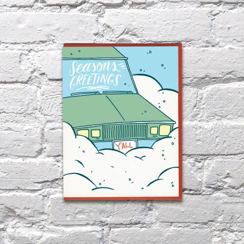 Snowy Car Holiday Card