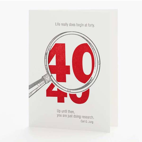 Life Begins At 40 Card