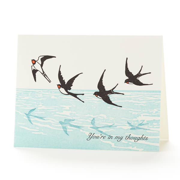 Swallows In My Thoughts Card