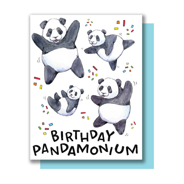 Birthday Pandamonium Card