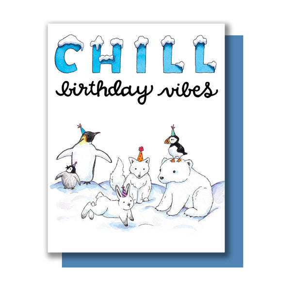 Chill Birthday Vibes Card