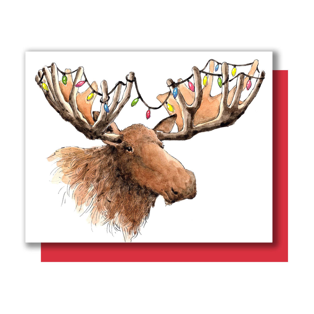 Christmas Moose Card