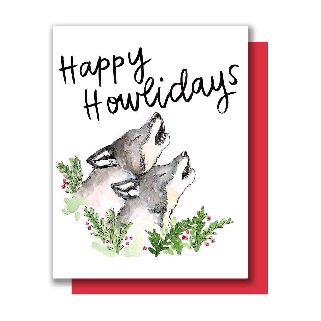 Howlidays Wolves Card