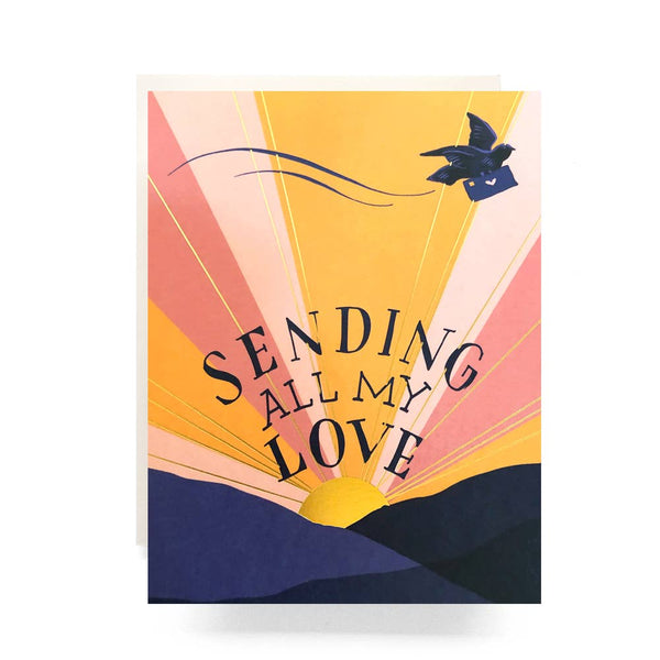 Sending All My Love Foil Card