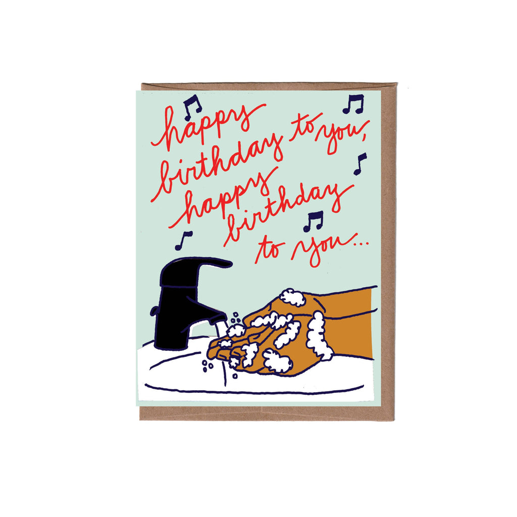 Hand Washing Birthday Card