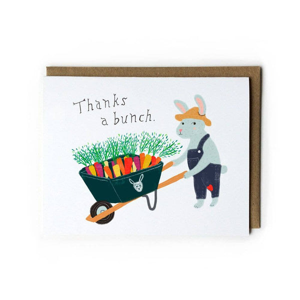 Carrot Bunch Thank You Card