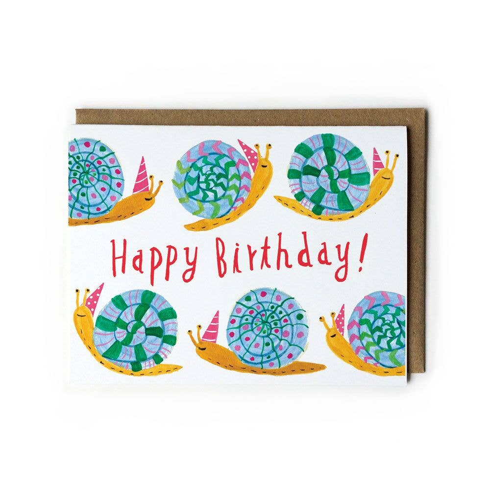 Party Snail Birthday Card